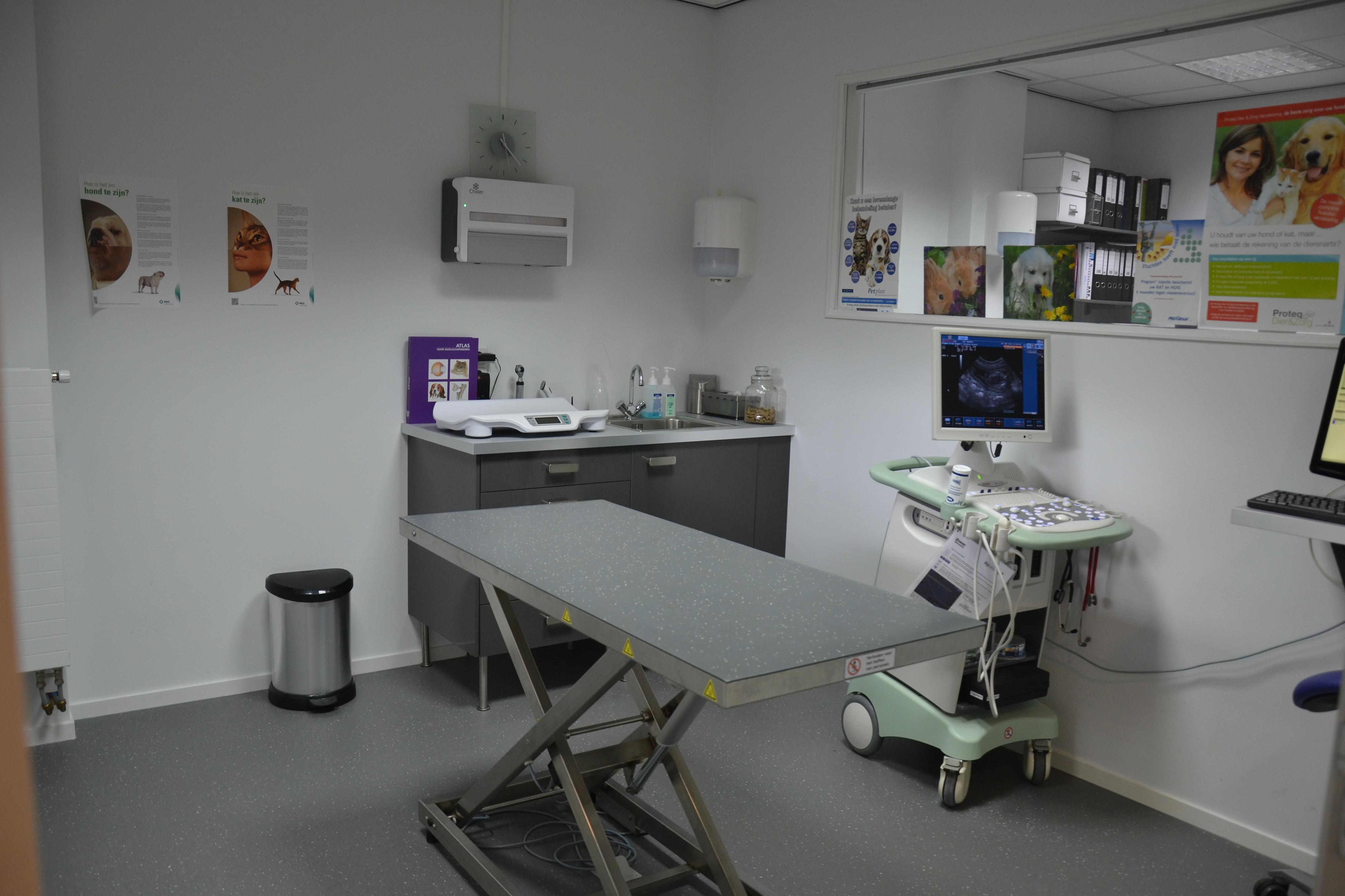 Behandel- en onderzoeksruimte Dierenartspraktijk Wormer